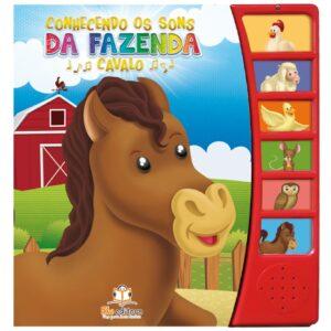 Coleção 4 Livros Sonoros Conhecendo Os Sons Da Fazenda