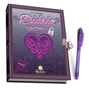 Diário Secreto Preto com caneta mágica (Cód: 66031)