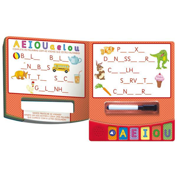 Escreva e apague sonoro - Alfabeto (cod-68011)