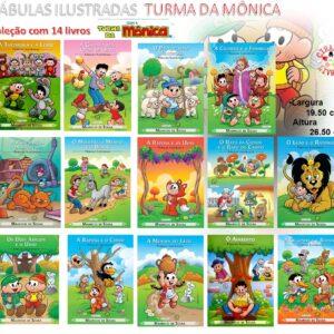 Coleção 14 Livros – Fábulas Ilustradas – Turma Da Mônica (Cód: 56940)