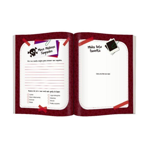 Meu Livro E Diário Secreto dentro - Preto