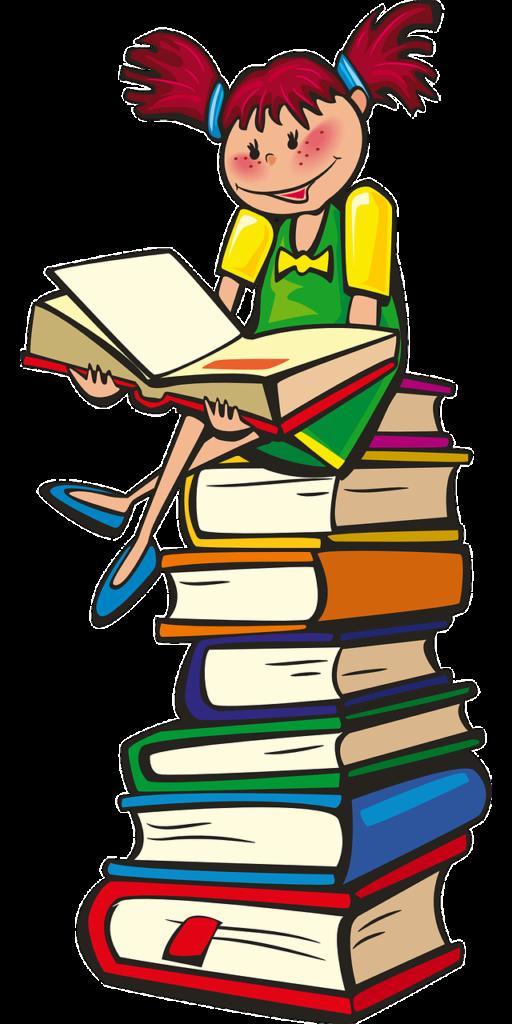 menina nos livros