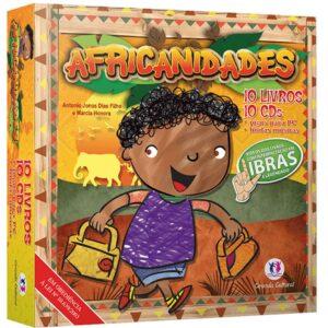 Coleção Africanidades com 10 Livros + 10 Cds (Libras)