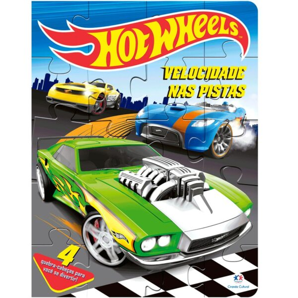 quebra cabeça hotwheels velocidade nas pistas