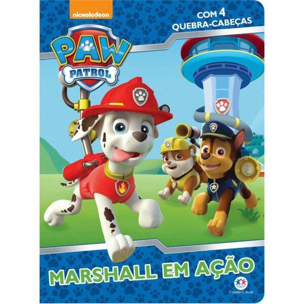 quebra cabeça patrulha canina marshall em açao