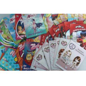 Kit Econômico com 100 Livros Infantis Sortidos para Meninas