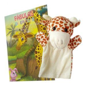 Livro + Fantoche Fábulas Divertidas – A Girafa que queria…