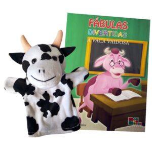 Livro com Fantoche Fábulas Divertidas – A Vaca Vaidosa