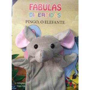 Livro com Fantoche Fábulas Divertidas – Pingo, o Elefante