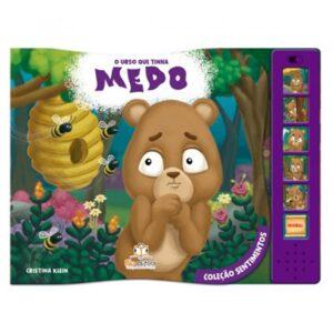 Livro Sonoro Coleção Sentimentos – O Urso que tinha Medos