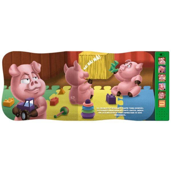 Livro Sonoro Coleção Sentimentos - O Porquinho Egoísta