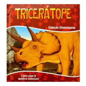 Quebra Cabeça Capa Almofadada Dinossauros – Tricerátope